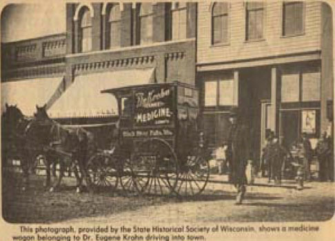 Dr. Eugene Krohn medicine wagon